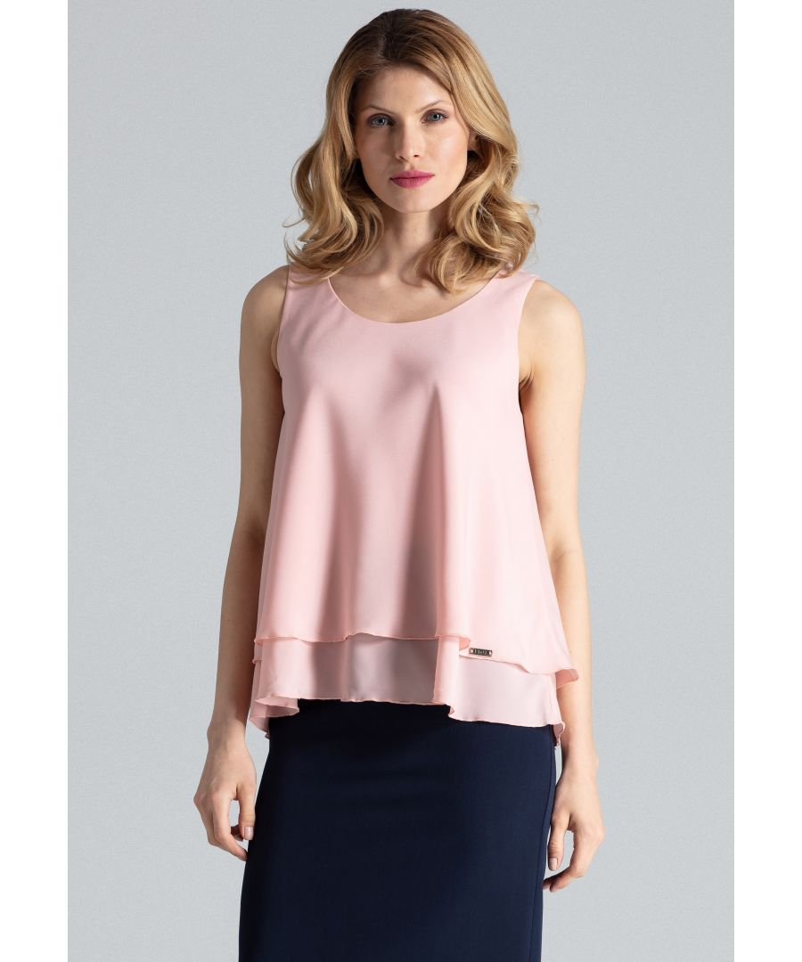 Image for Pink Stunning Double Layer Sleeveless Top