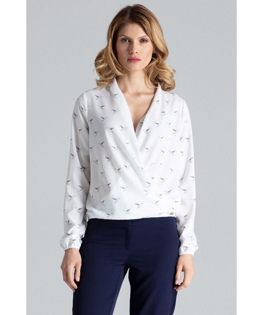 Image for Beige Patterned Wrap Shirt
