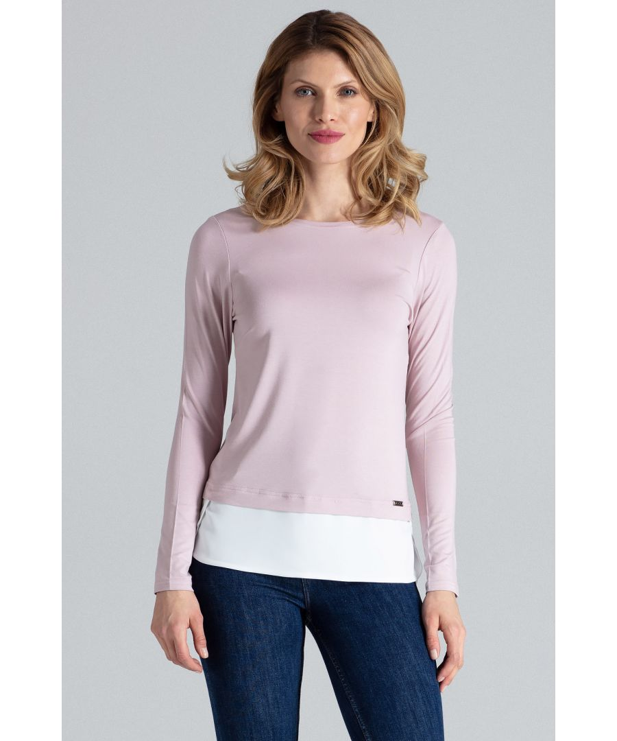 Image for Pink Asymmetrical Long Sleeve Top