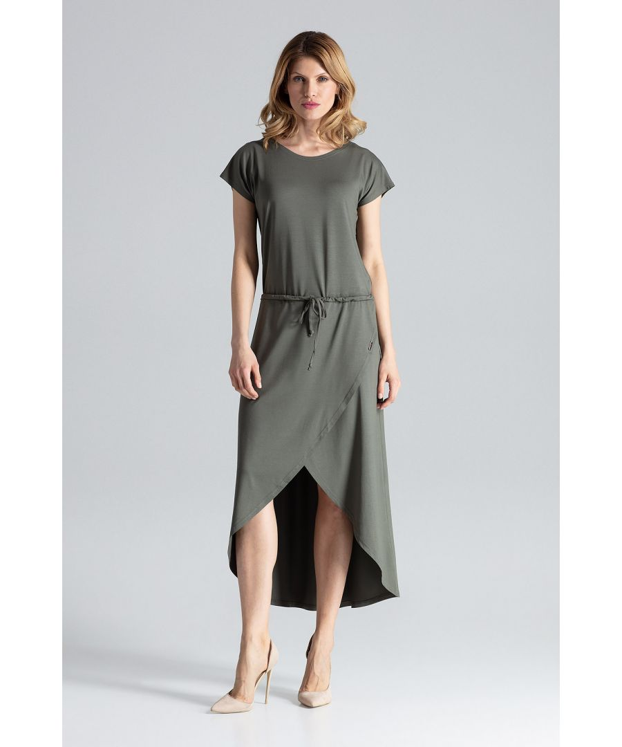 Image for Olive Asymmetrical Wrap Dress