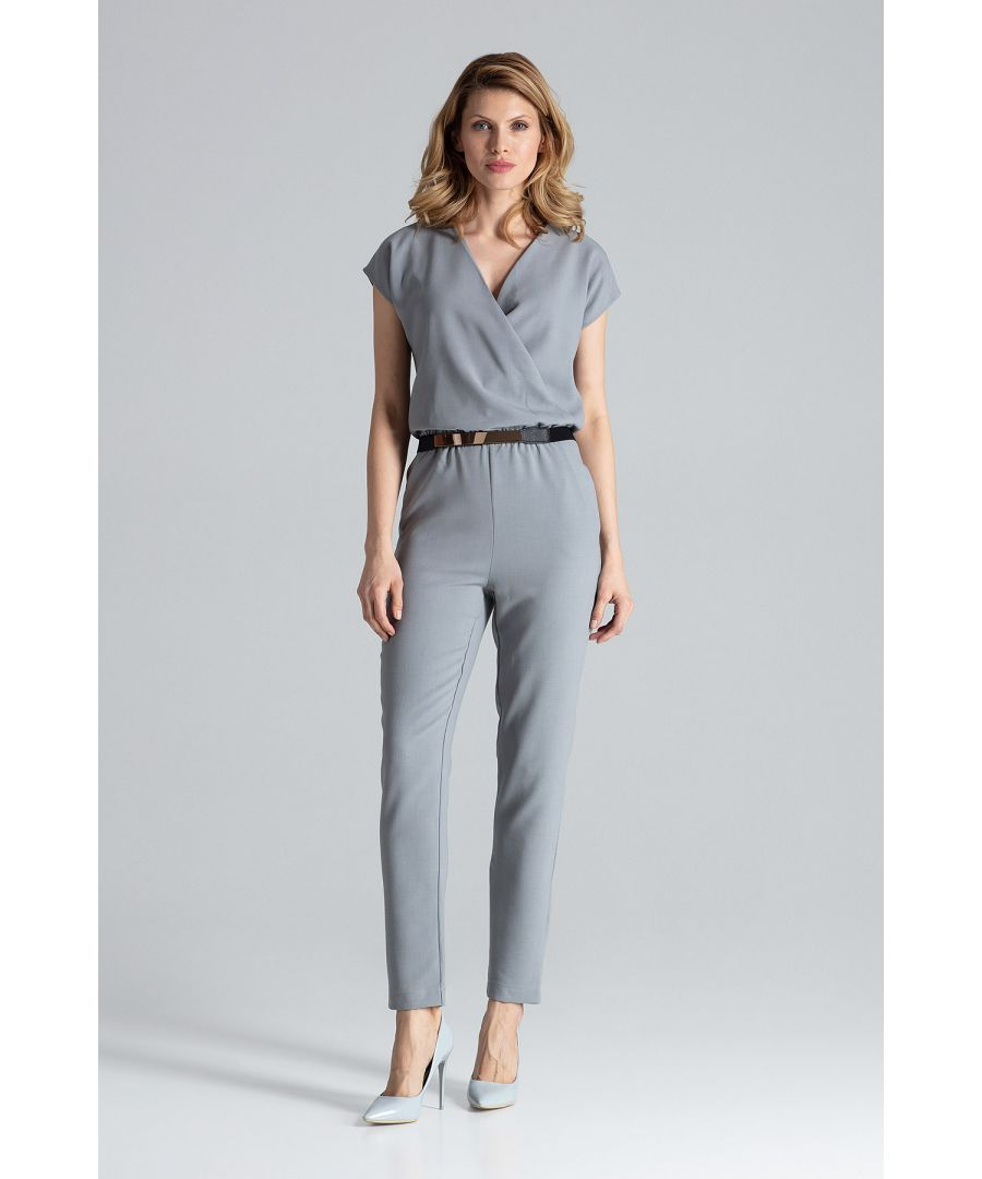 Image for Grey Short Sleeve Jumpsuit