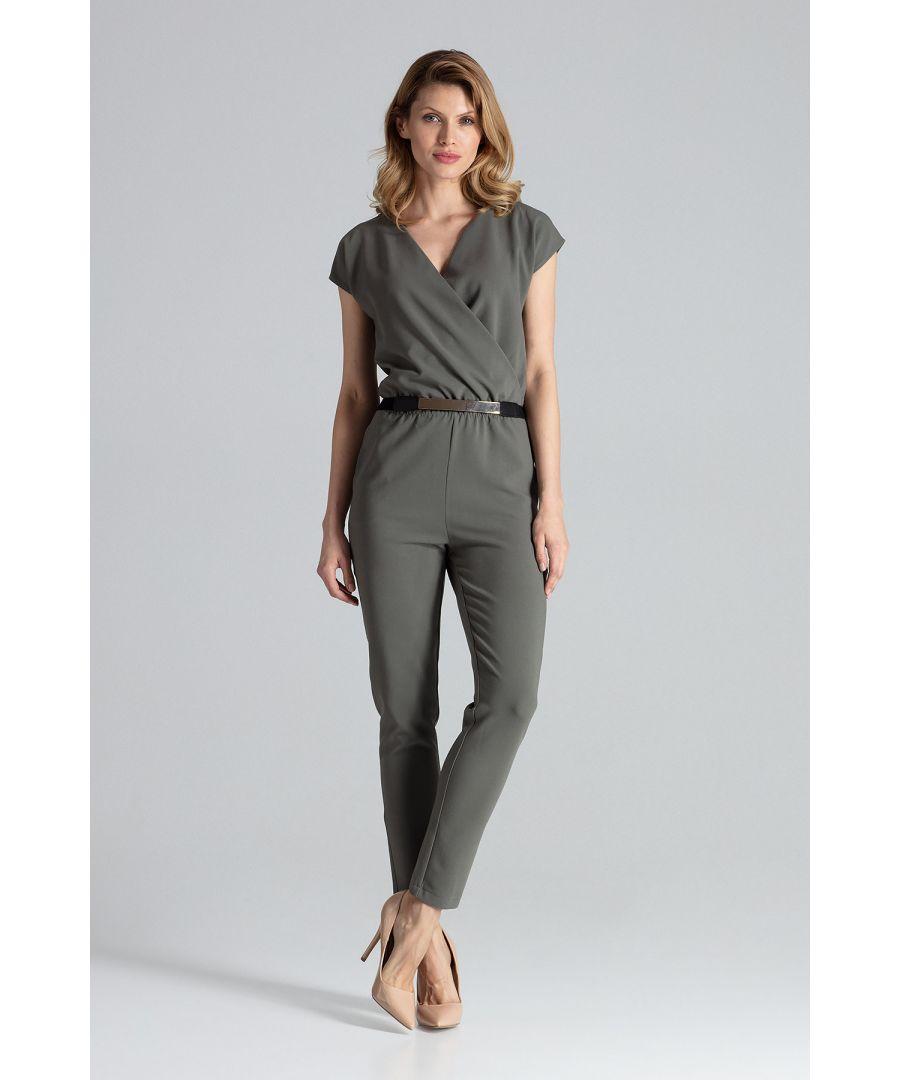 Image for Olive Short Sleeve Jumpsuit