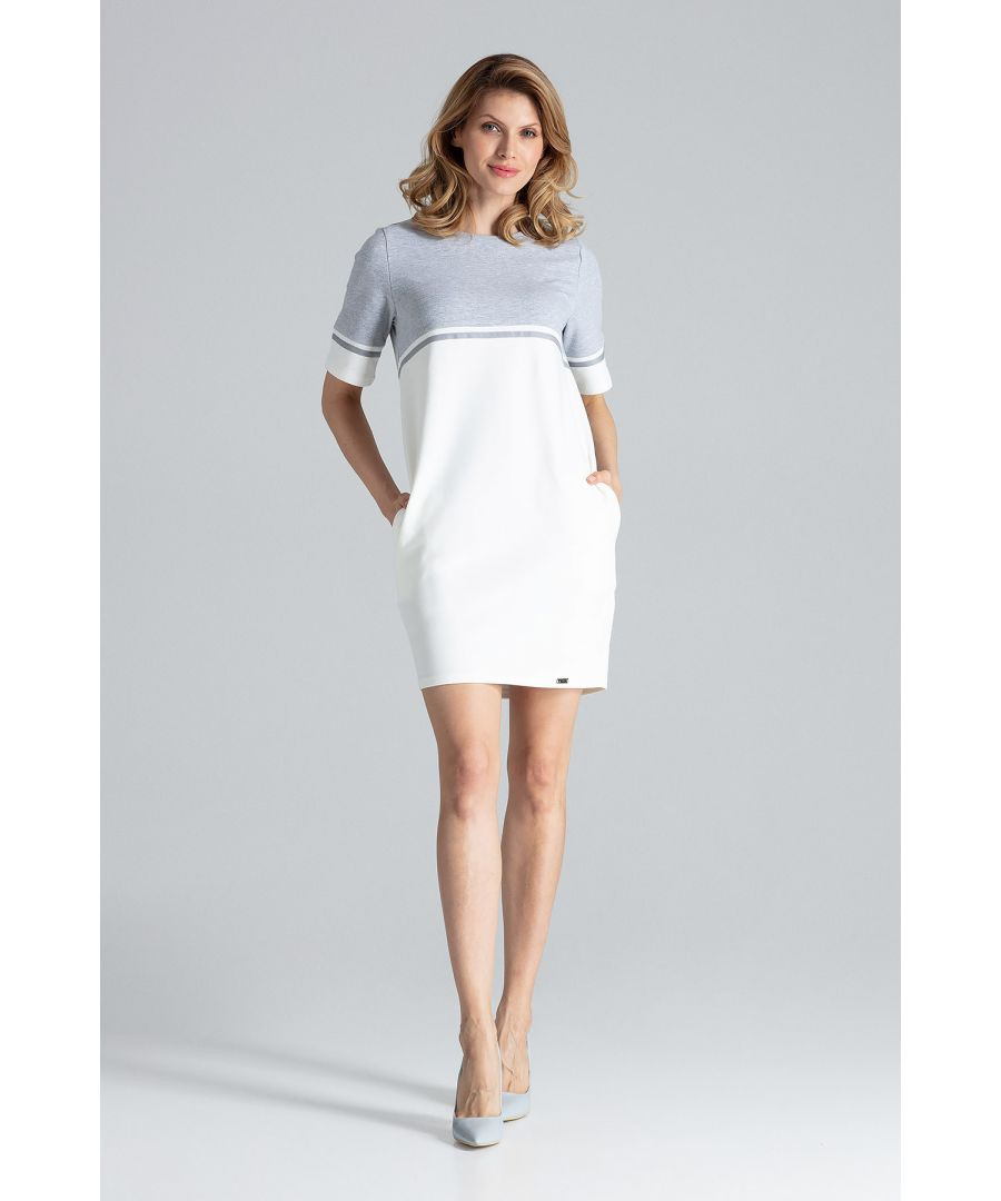 Image for White Comfy Cotton Mini Dress