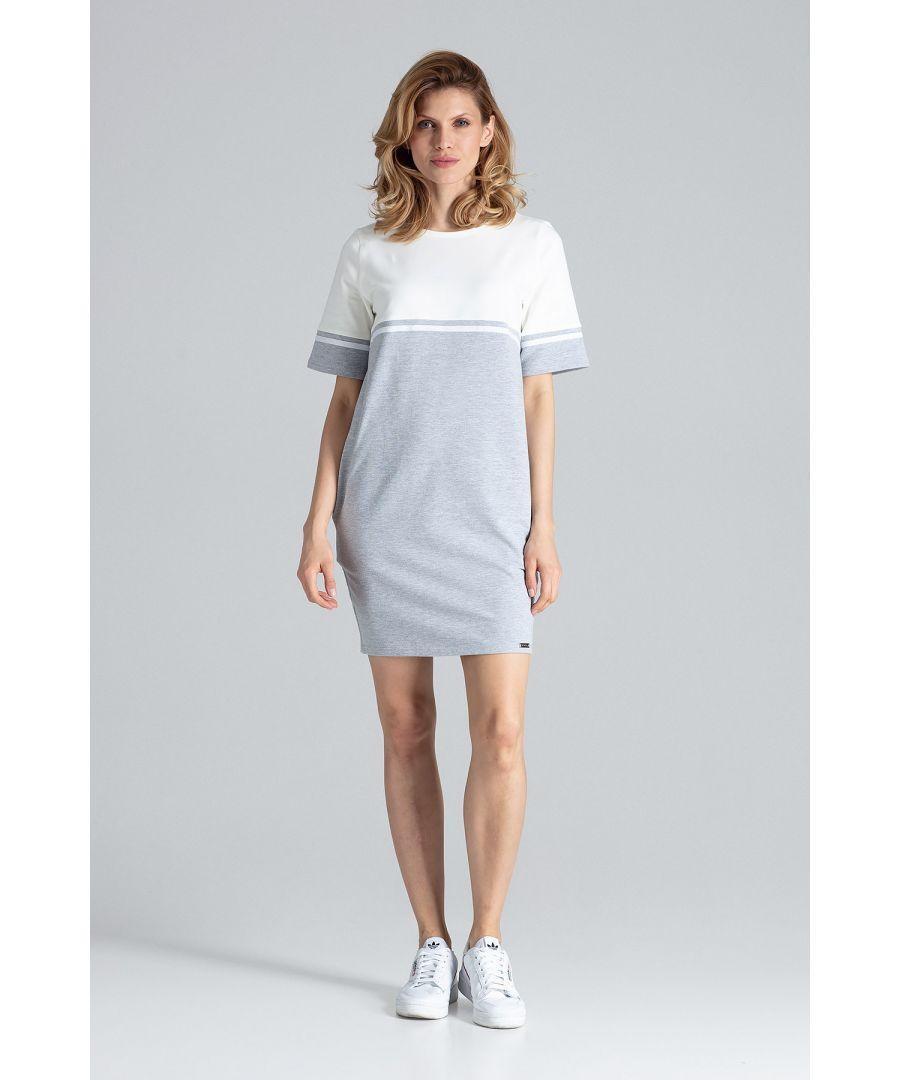 Image for Grey Comfy Cotton Mini Dress