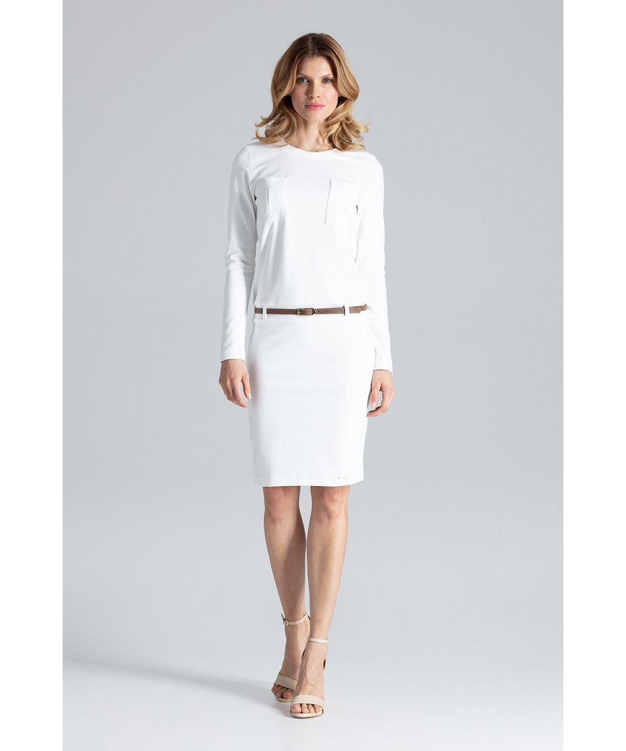 Image for Beige Long Sleeve Dress