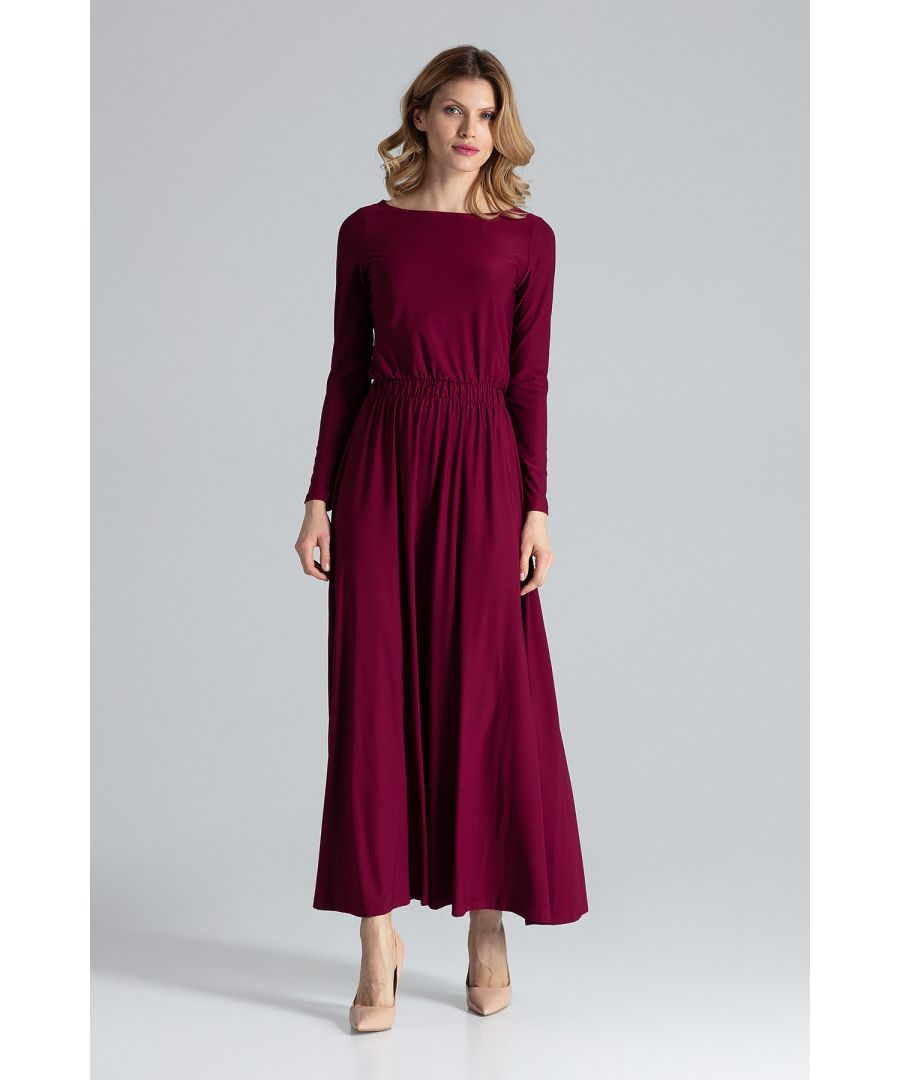 Image for Red Simple Maxi Dress