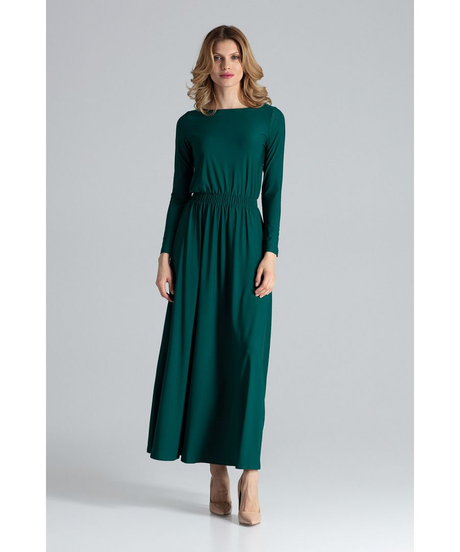 Image for Green Simple Maxi Dress