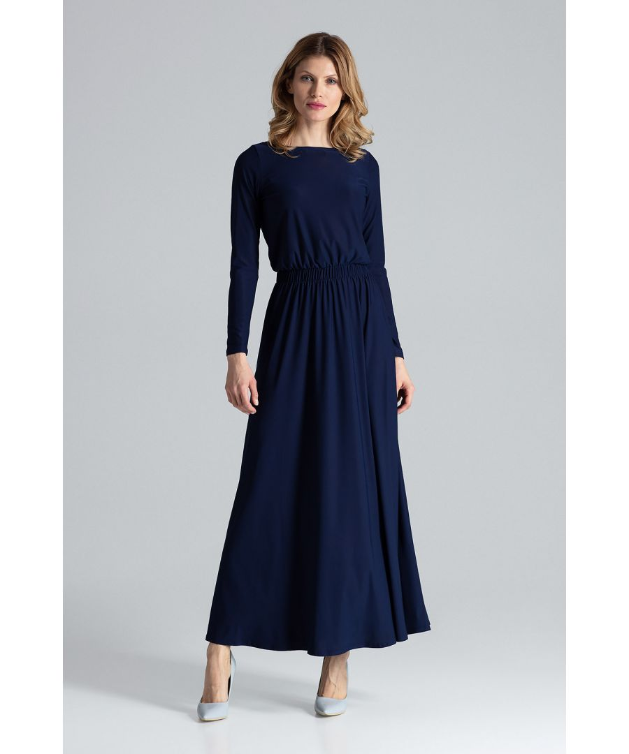 Image for Navy Simple Stylish Maxi Dress