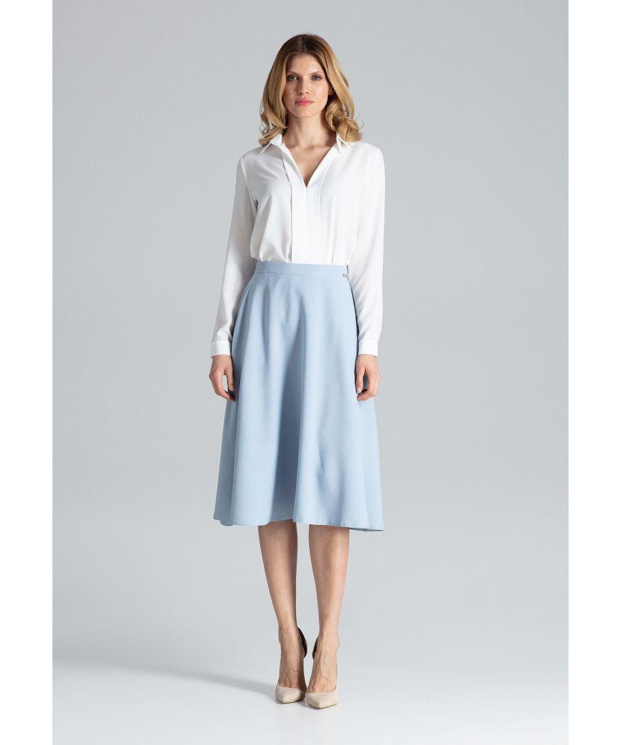 Image for Light Blue Flared Skirt