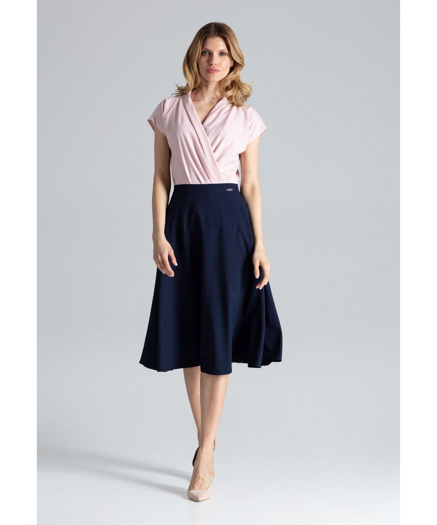 Image for Navy Flared Skirt