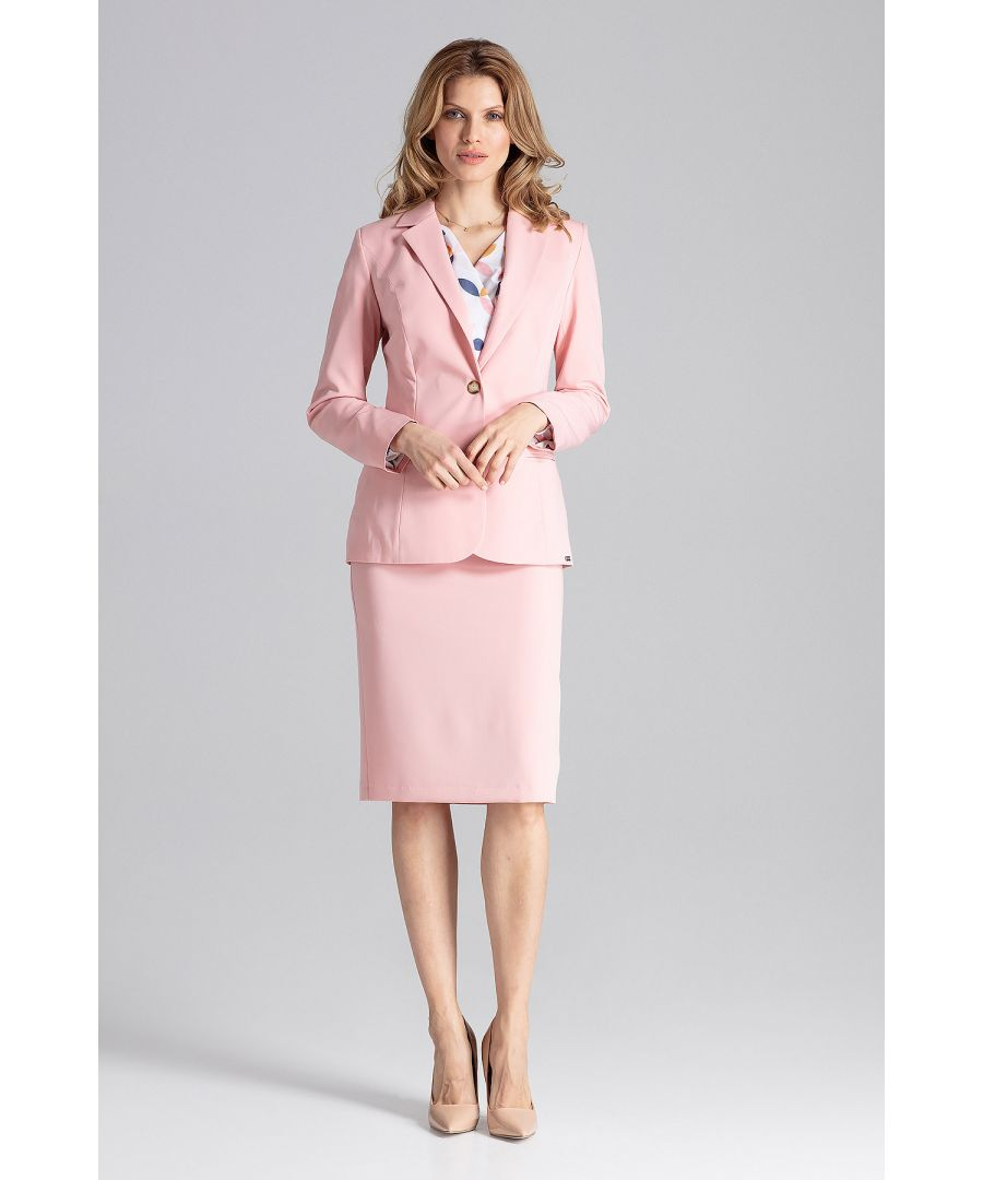 Image for Pink Classic V-Neck Jacket