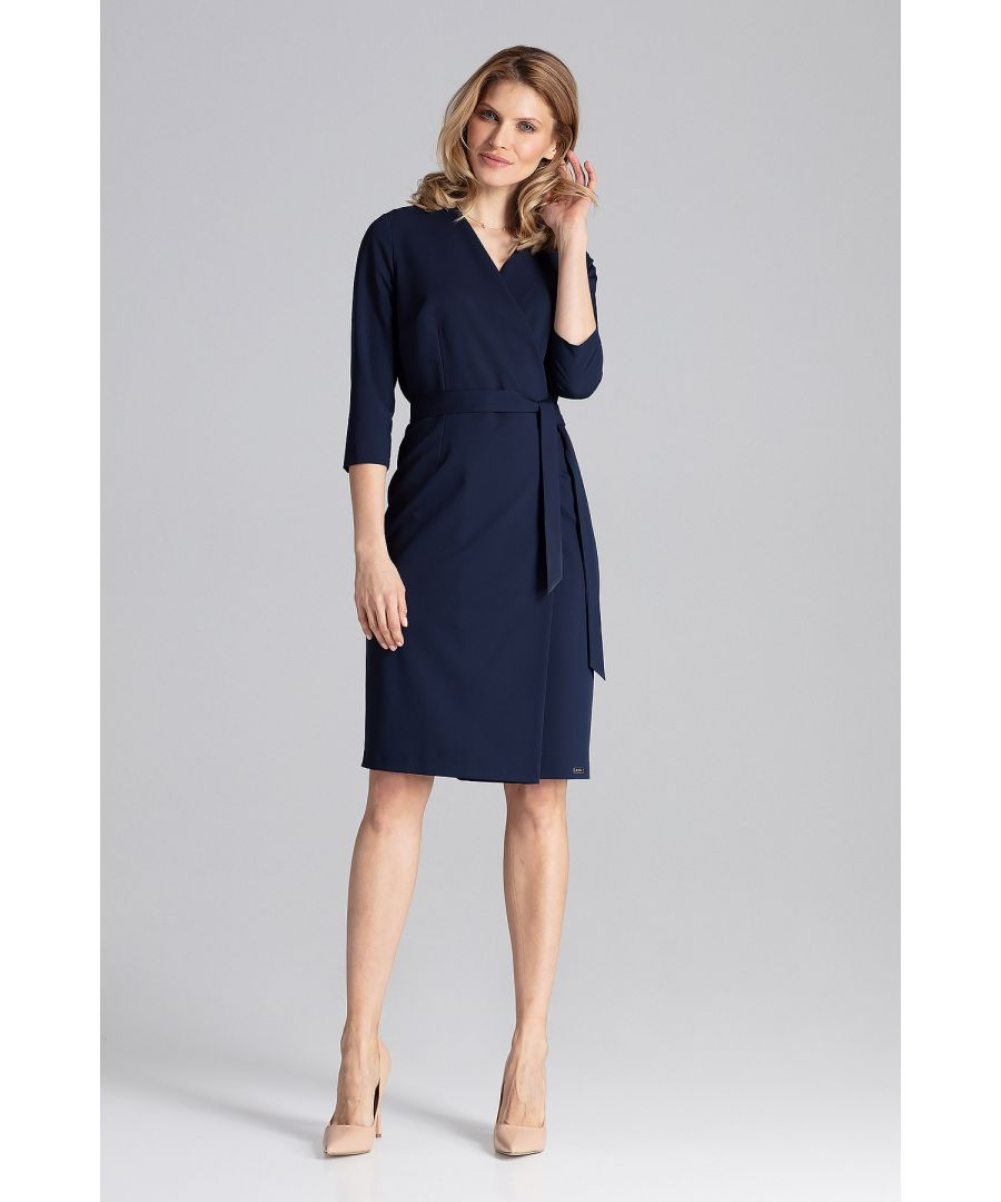 Image for Navy Wrap Dress