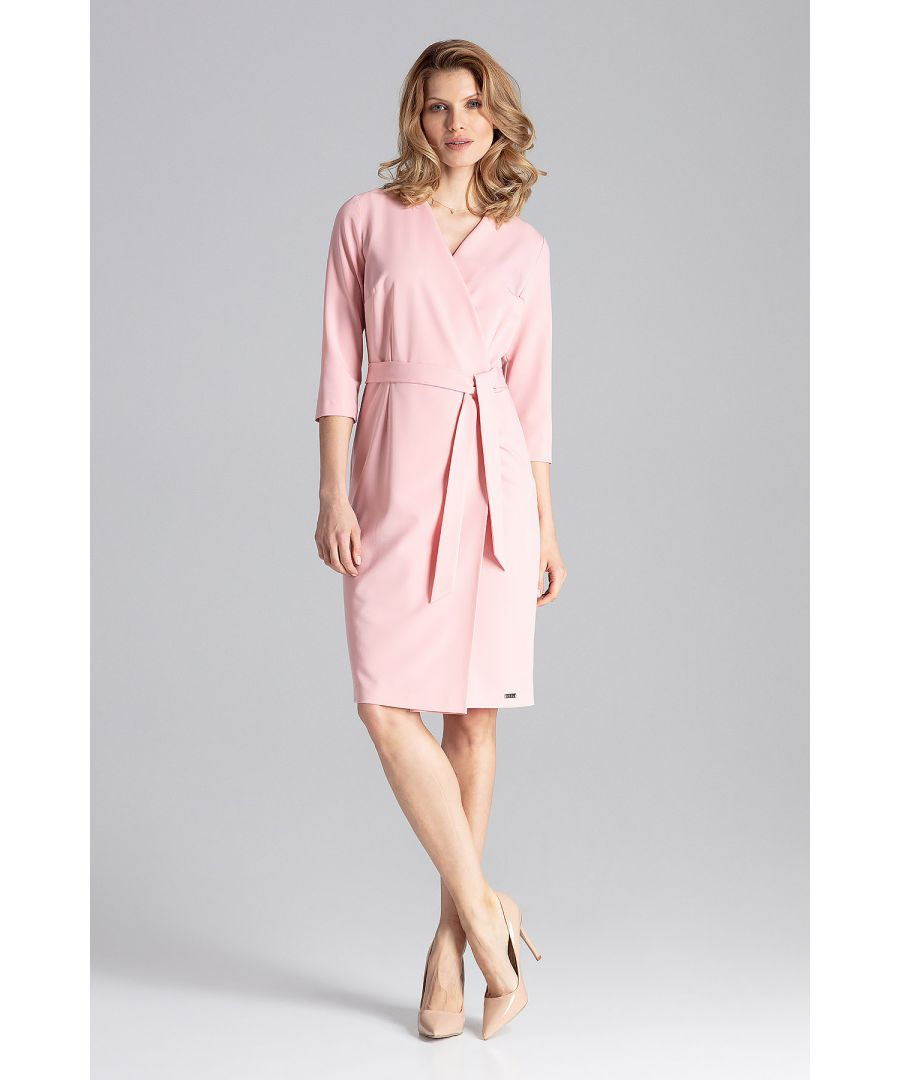 Image for Pink Classic Wrap Dress