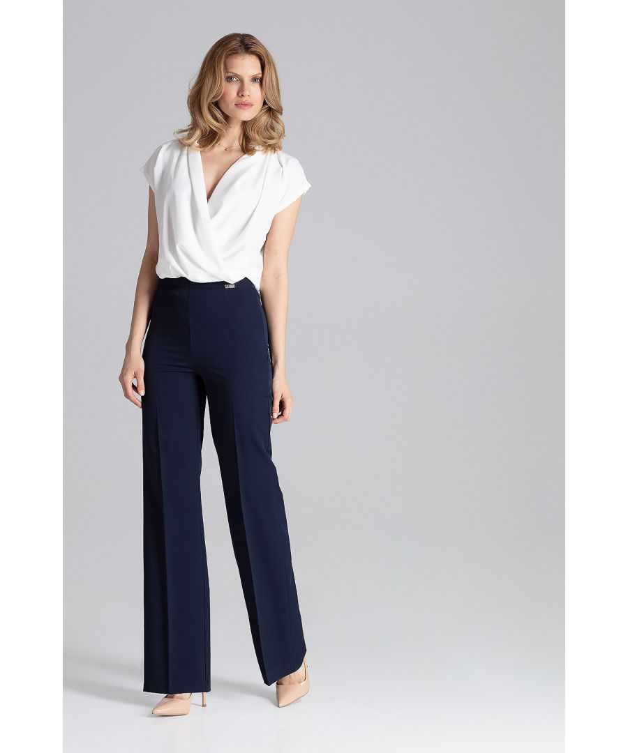 Image for Navy Long Dress Trousers