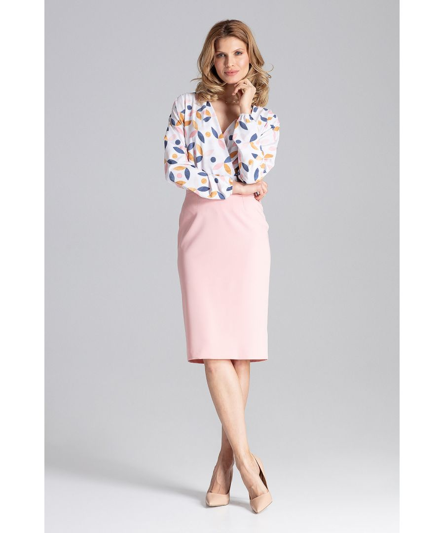Image for Pink Pencil Midi Skirt