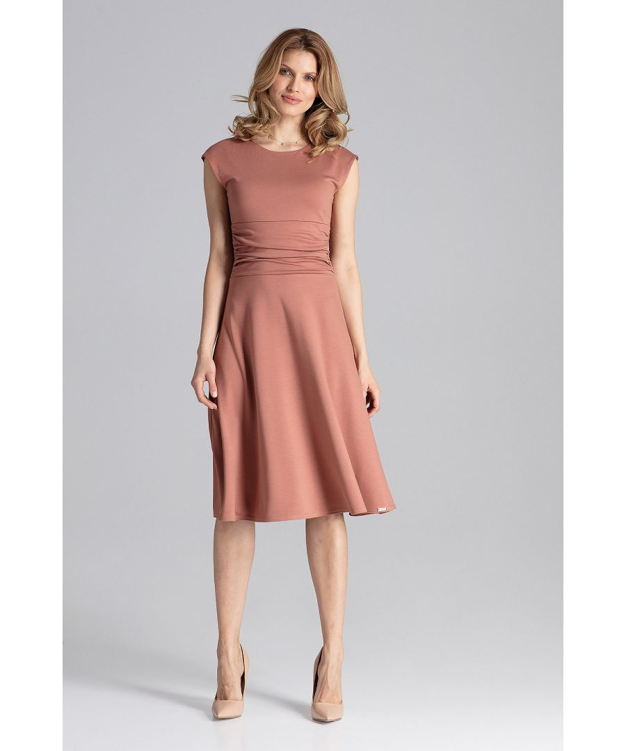 Image for Brown Midi Cocktail Dress