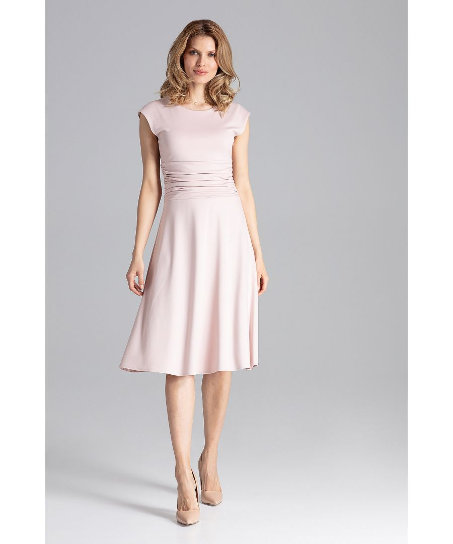 Image for Pink Midi Cocktail Dress
