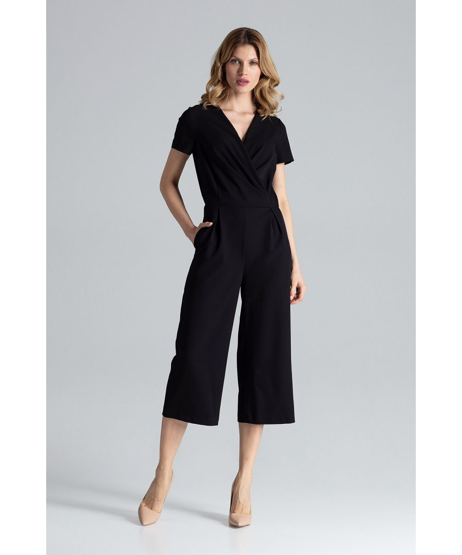 Image for Black Short Sleeve Jumpsuit