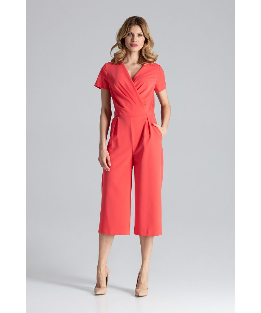 Image for Coral Short Sleeve Jumpsuit