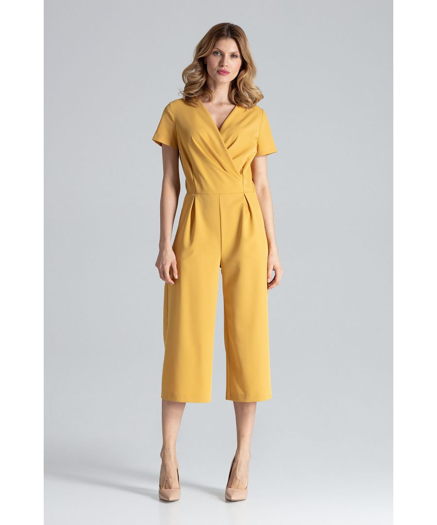 Image for Mustard Jumpsuit With Short Sleeves