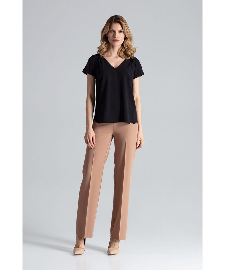 Image for Black Short-Sleeved Blouse