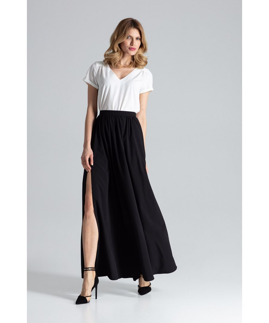 Image for Black Maxi Wide Skirt