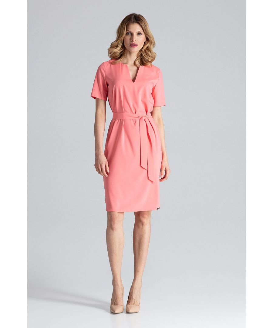 Image for Coral Behind The Knee Dress