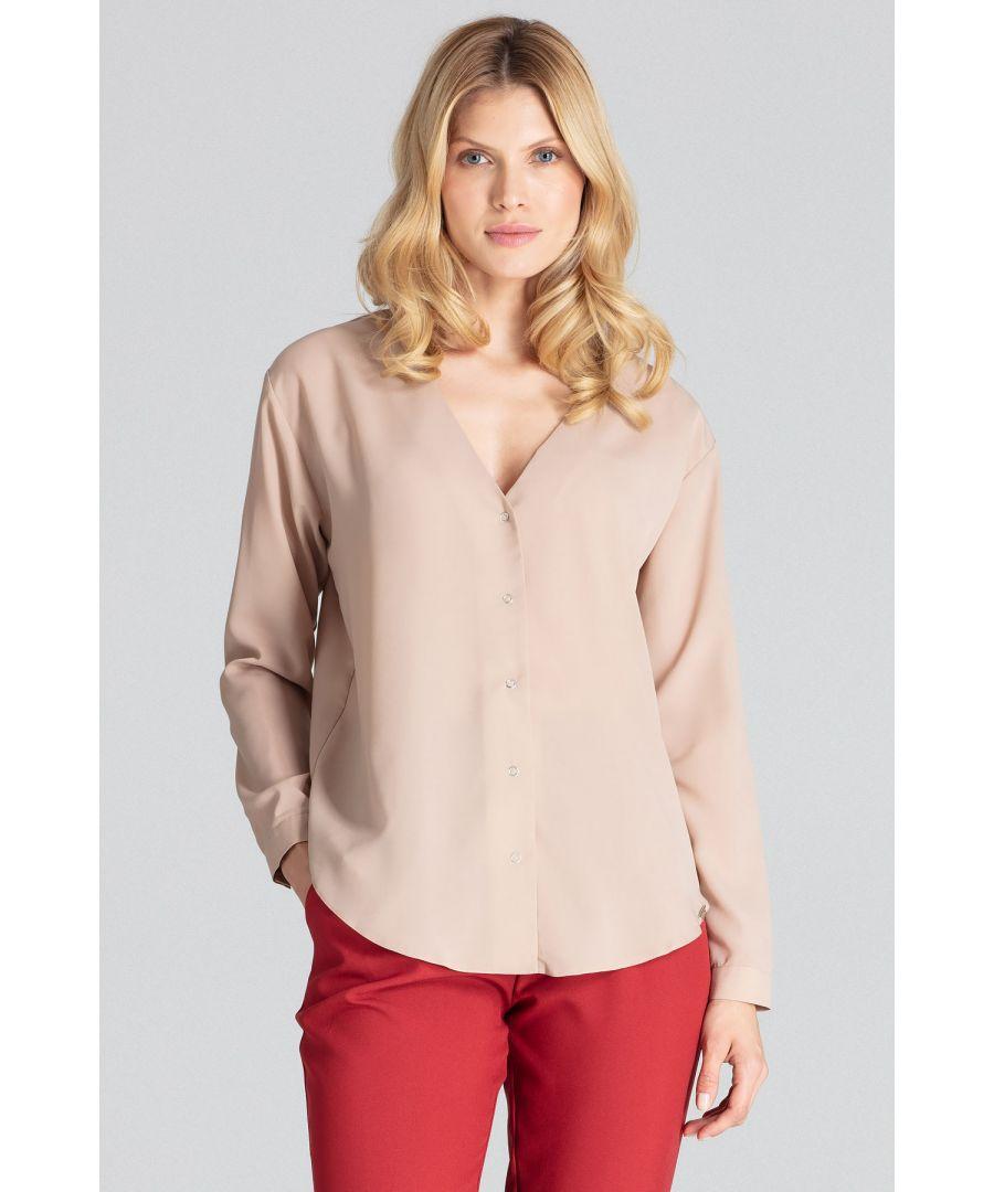 Image for Beige Long-Sleeved Shirt