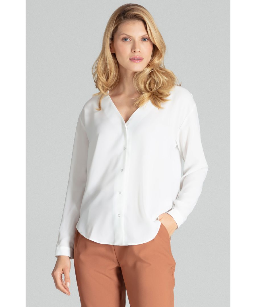 Image for Beige Ecru Long-Sleeved Shirt With Cuffs