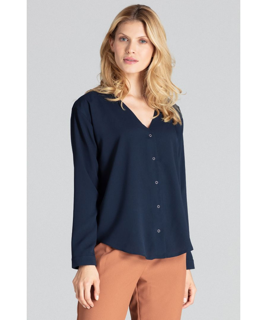 Image for Navy Long-Sleeved Shirt
