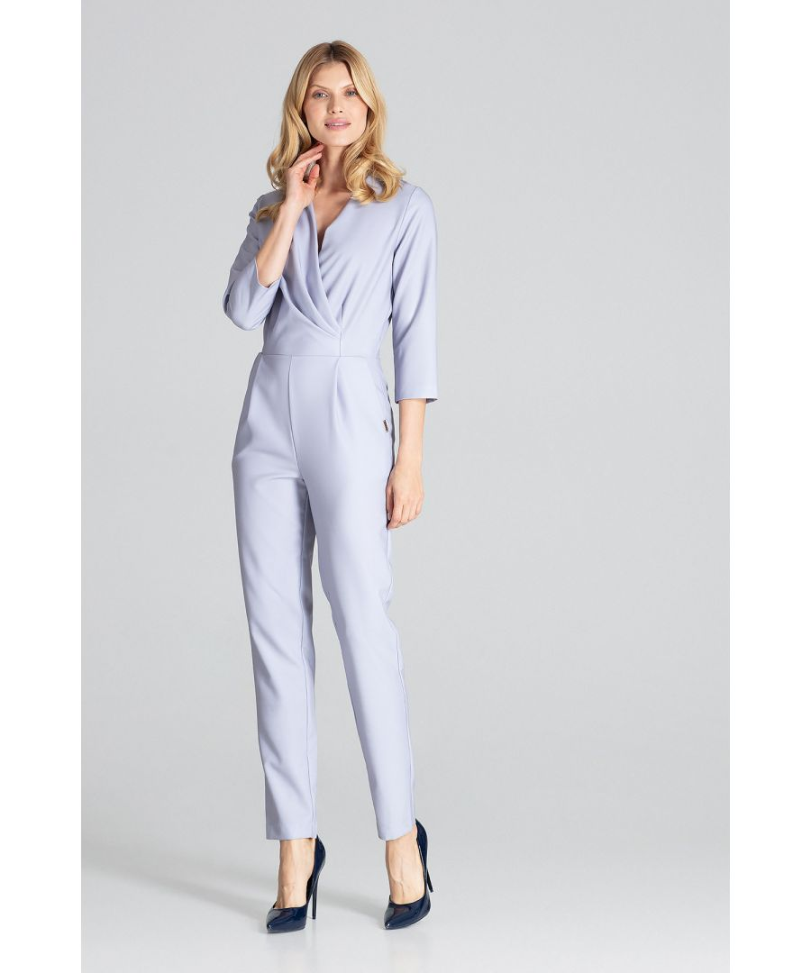 Image for Grey Pleated Jumpsuit