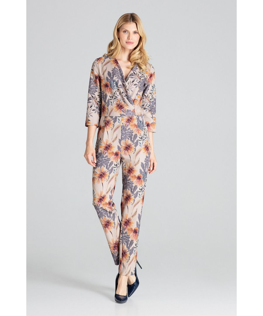 Image for Print Jumpsuit With 3/4 Sleeves