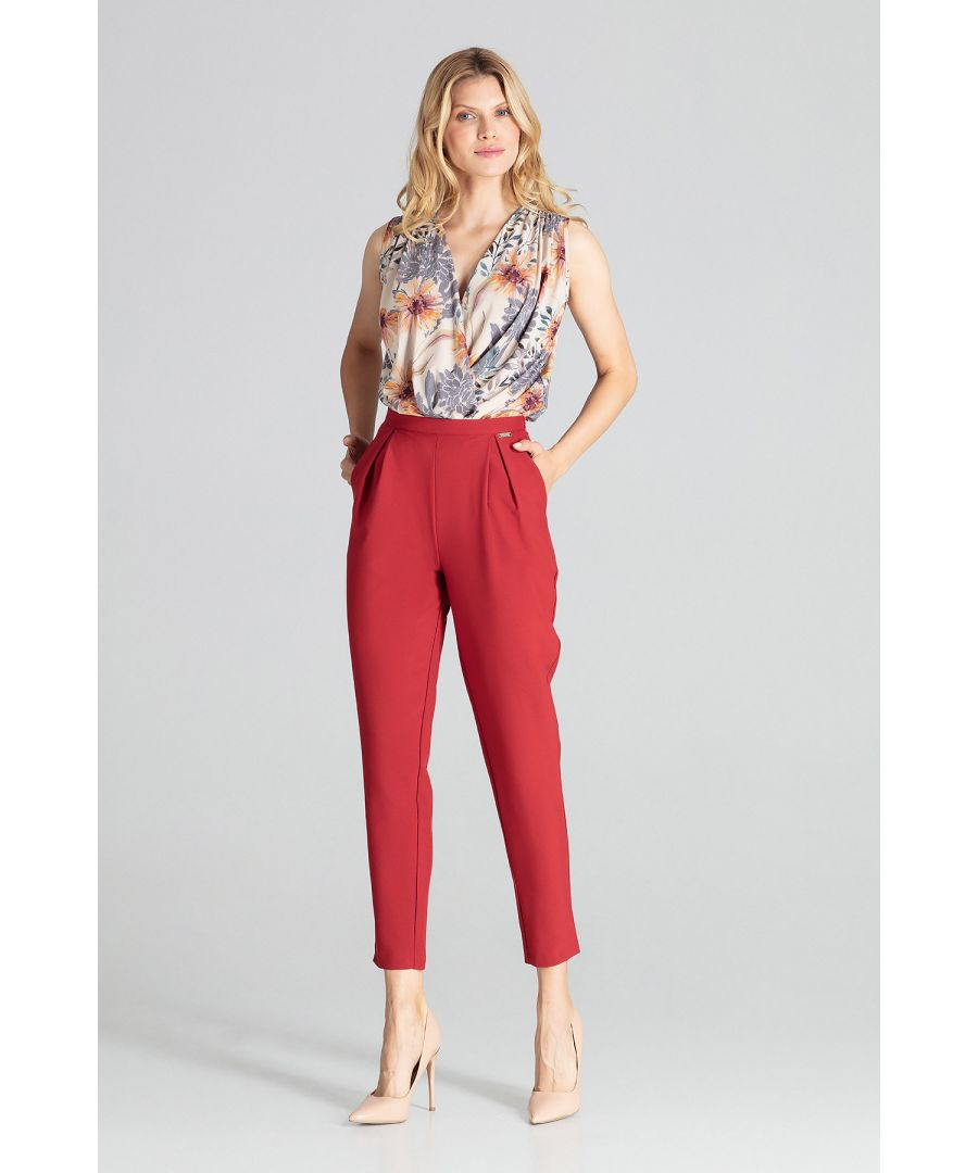 Image for Red Deep Red Classic Pants