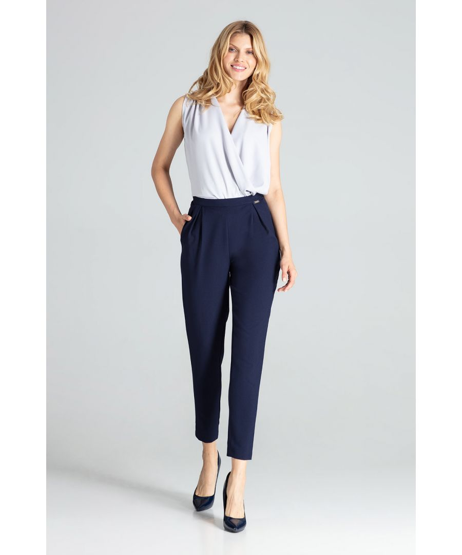 Image for Navy Classic Pants With Pleats