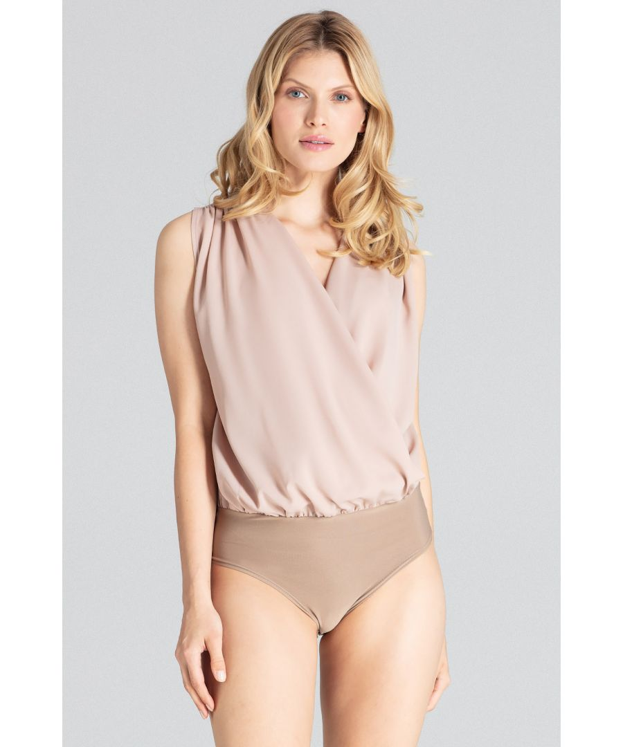 Image for Beige Sleeveless Elegant Body