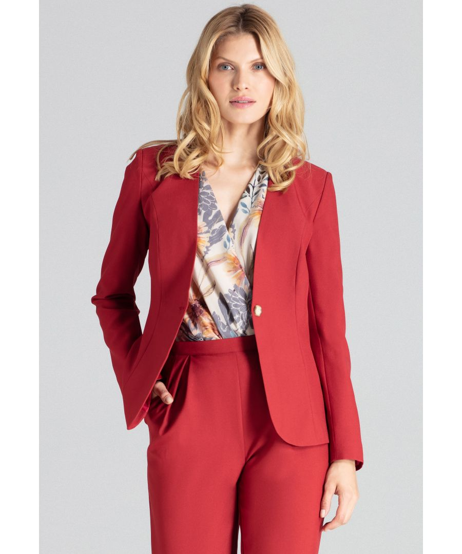 Image for Grey The Classic Red Blazer Jacket