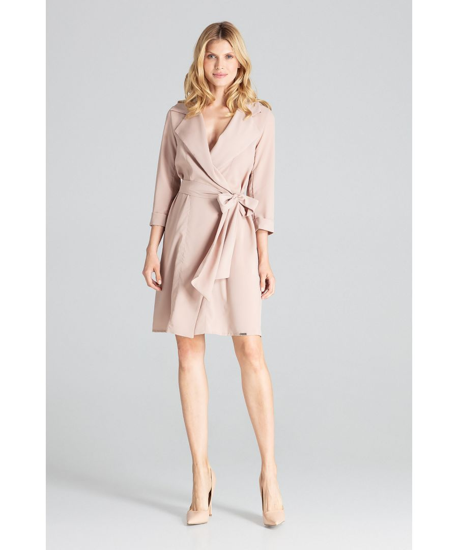 Image for Beige Leeway Midi Dress