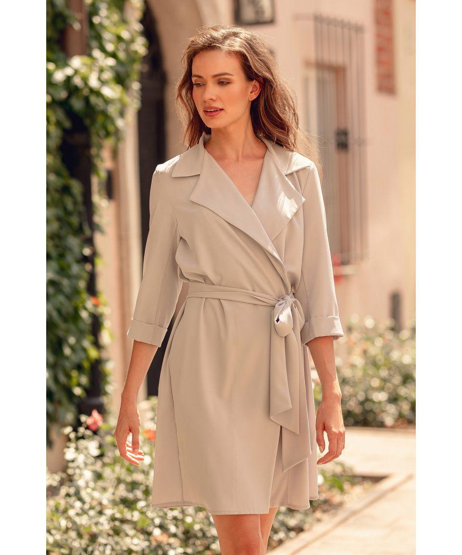 Image for Grey Midi Shirt Dress