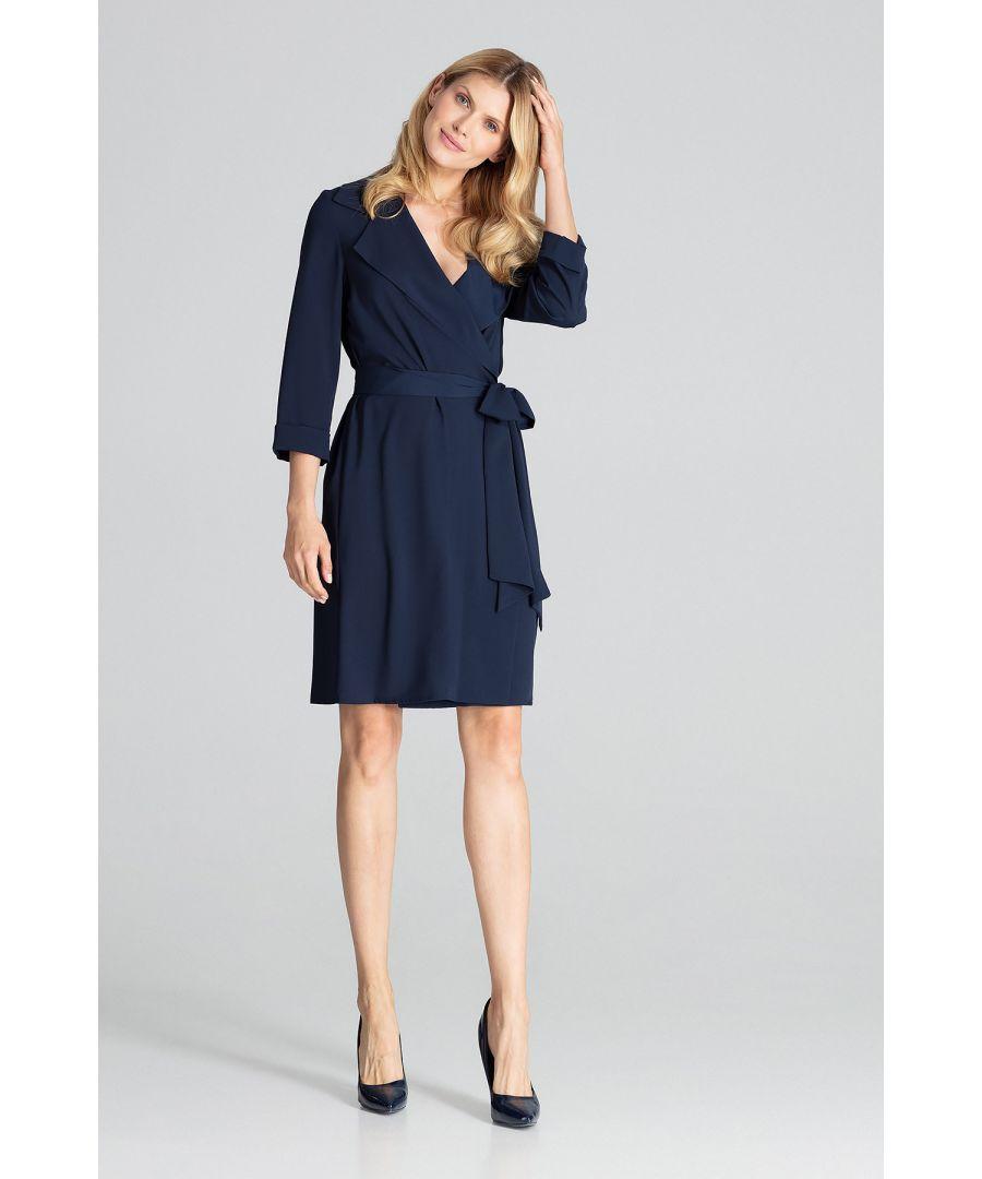 Image for Navy Midi Shirt Dress