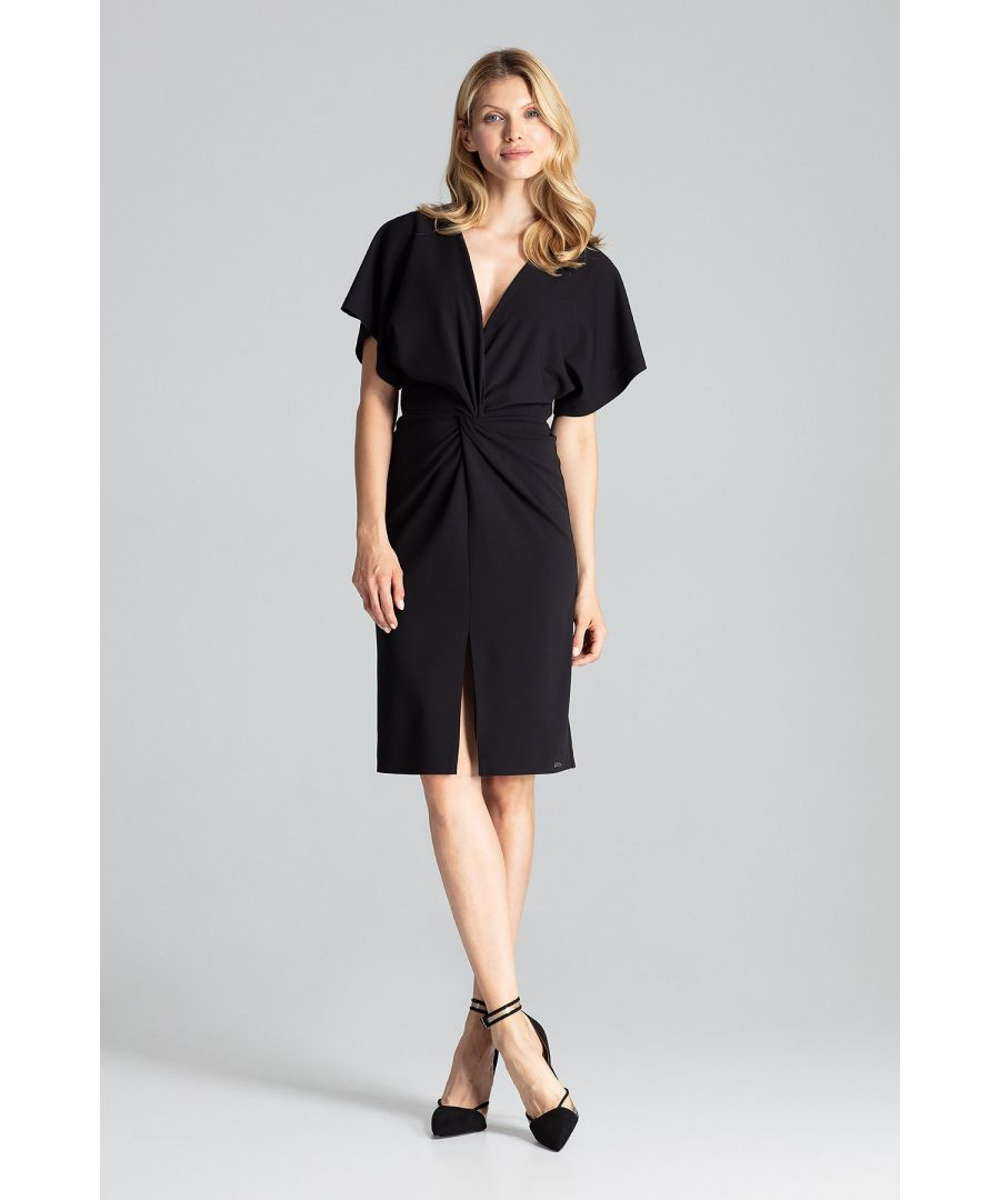 Image for Black Elegant Midi Dress