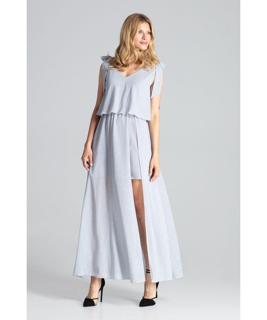 Image for Grey Sleeveless Maxi Dress
