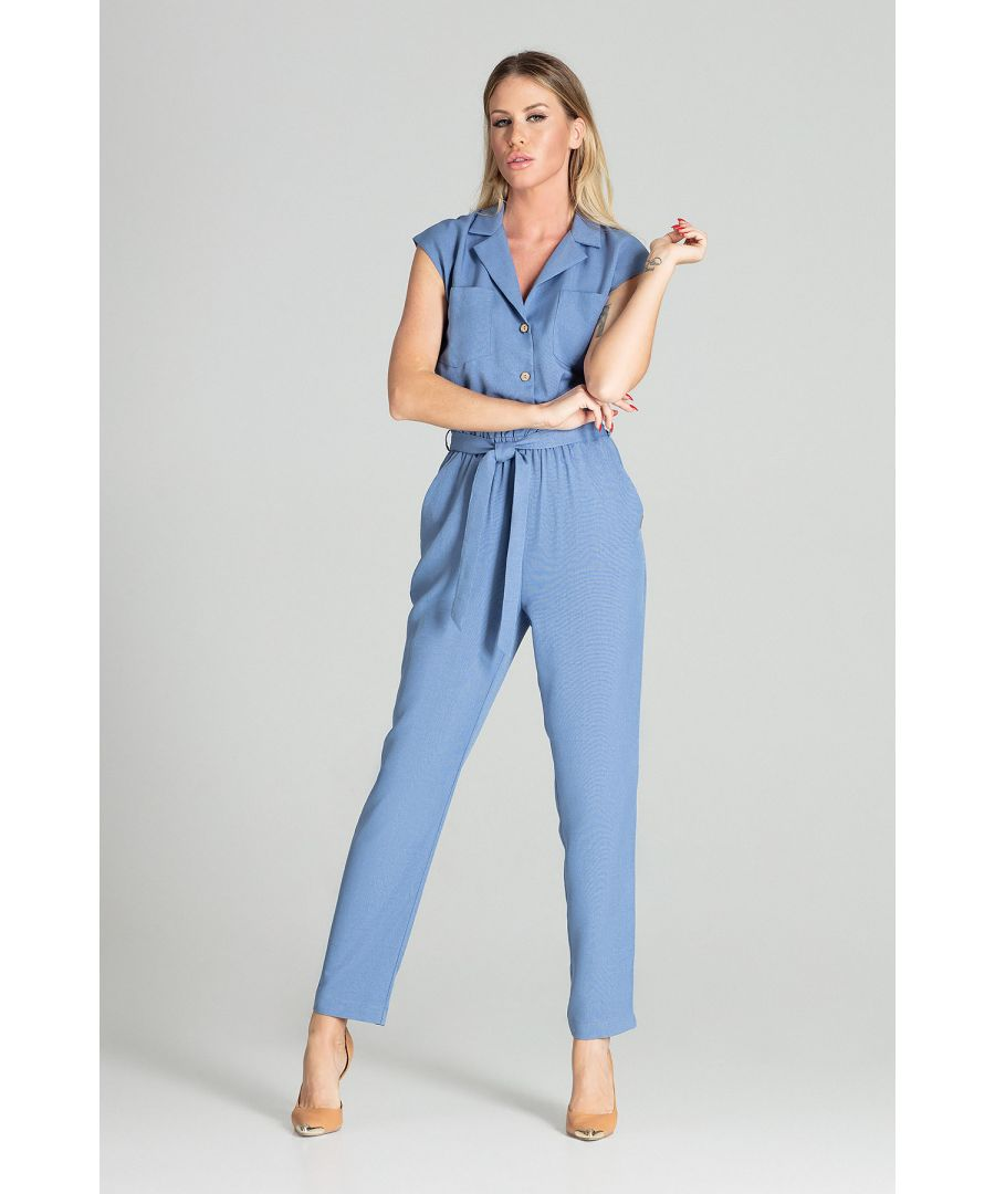 Image for Blue Sleeveless Jumpsuit