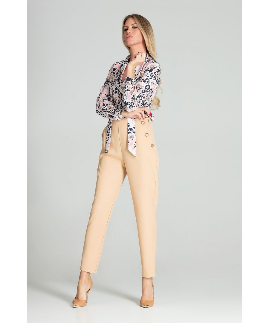 Image for Beige Tapered Trousers