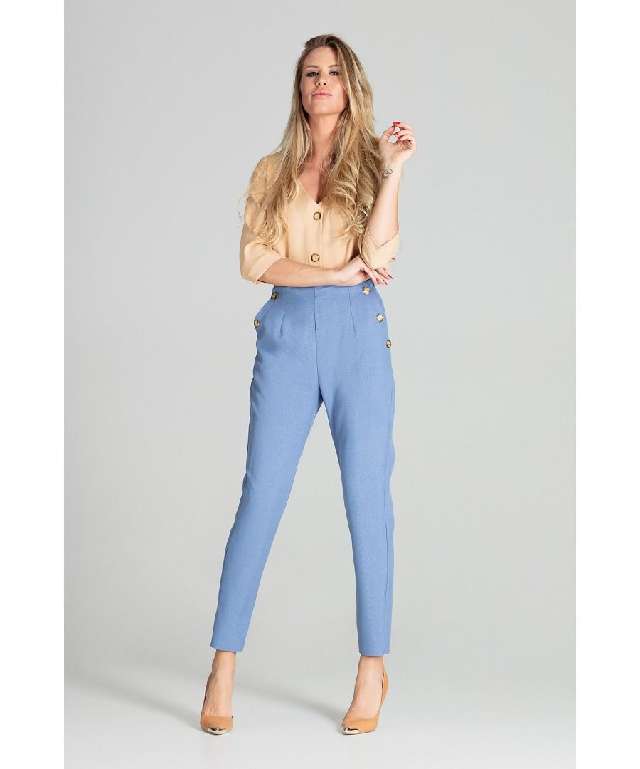 Image for Blue Tapered Trousers