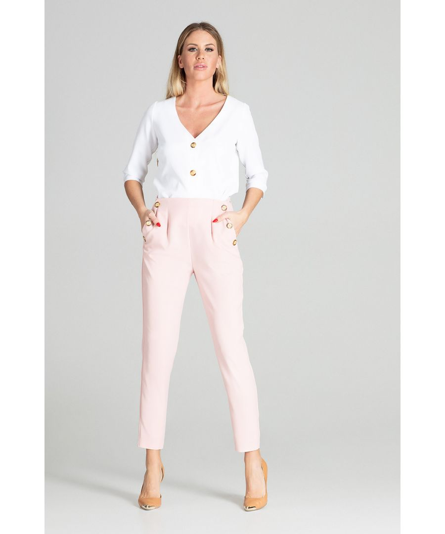 Image for Light Pink Tapered Trousers
