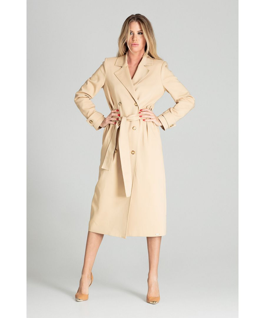 Image for Beige Classic Long Spring Jacket
