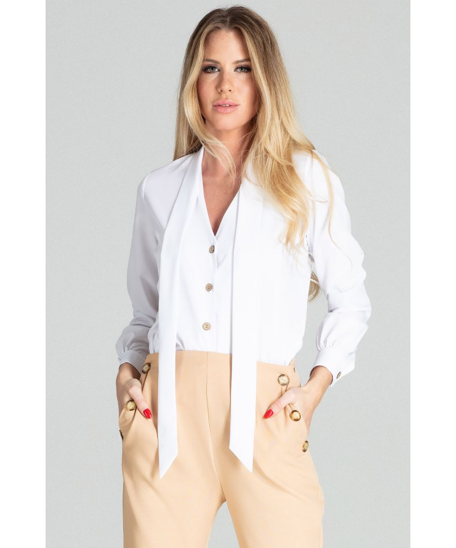 Image for White Short Spring Blouse