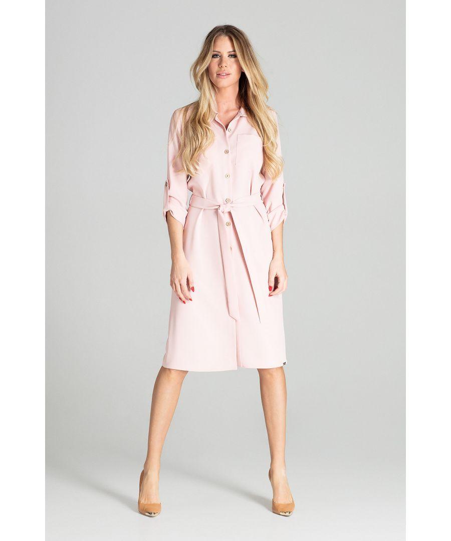 Image for Light Pink Long Shirt Dress