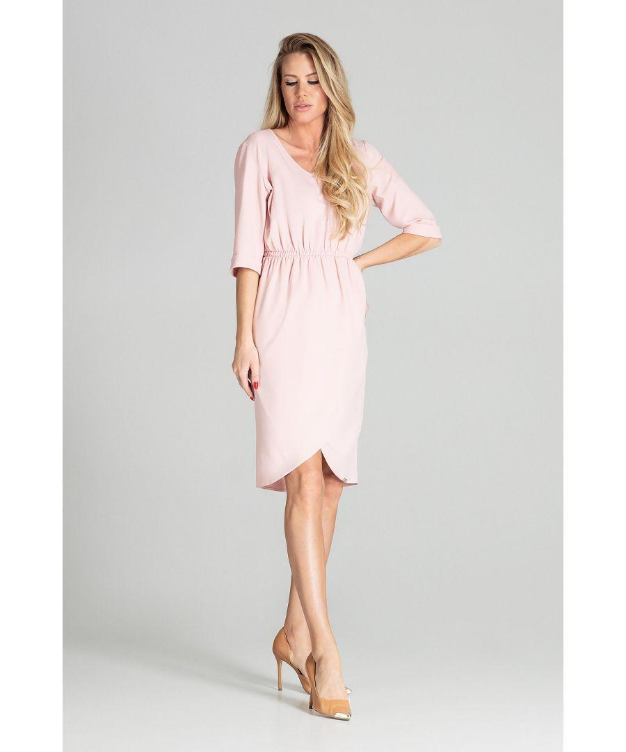 Image for Light Pink Spring Midi Dress
