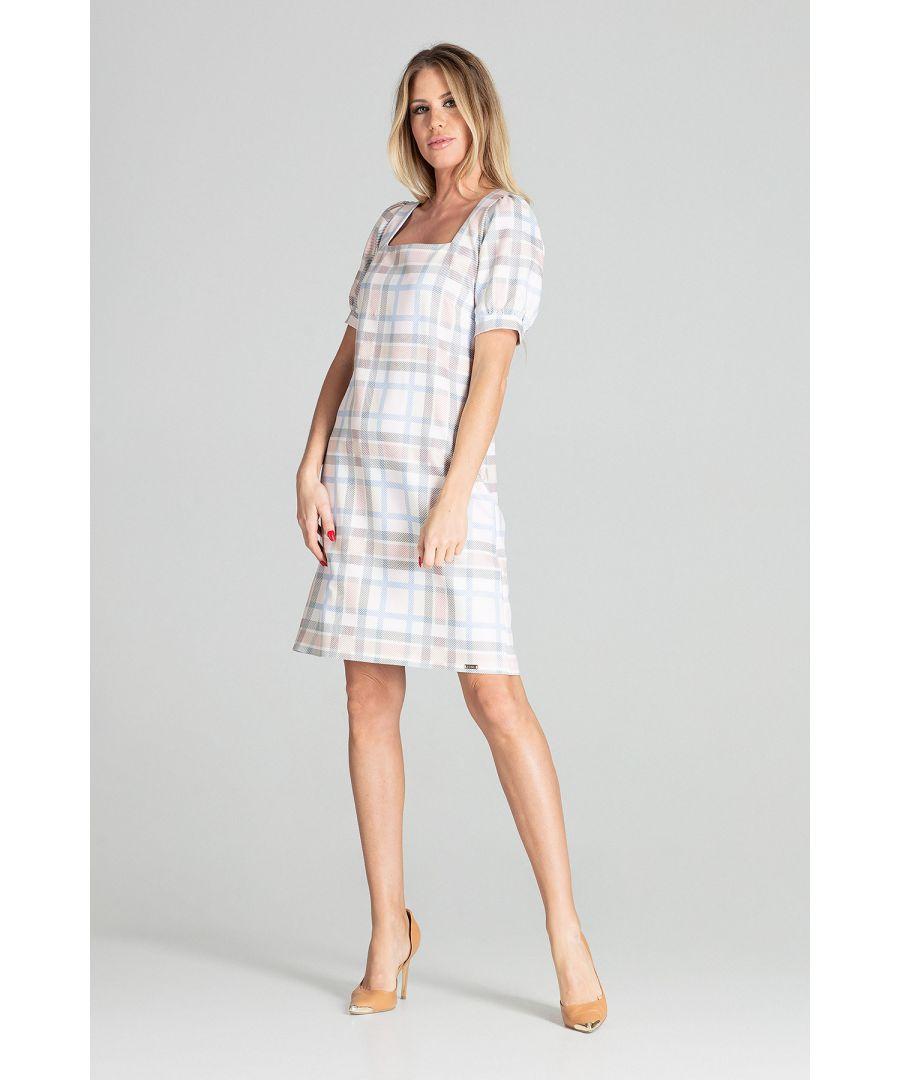 Image for Checkered Midi Dress